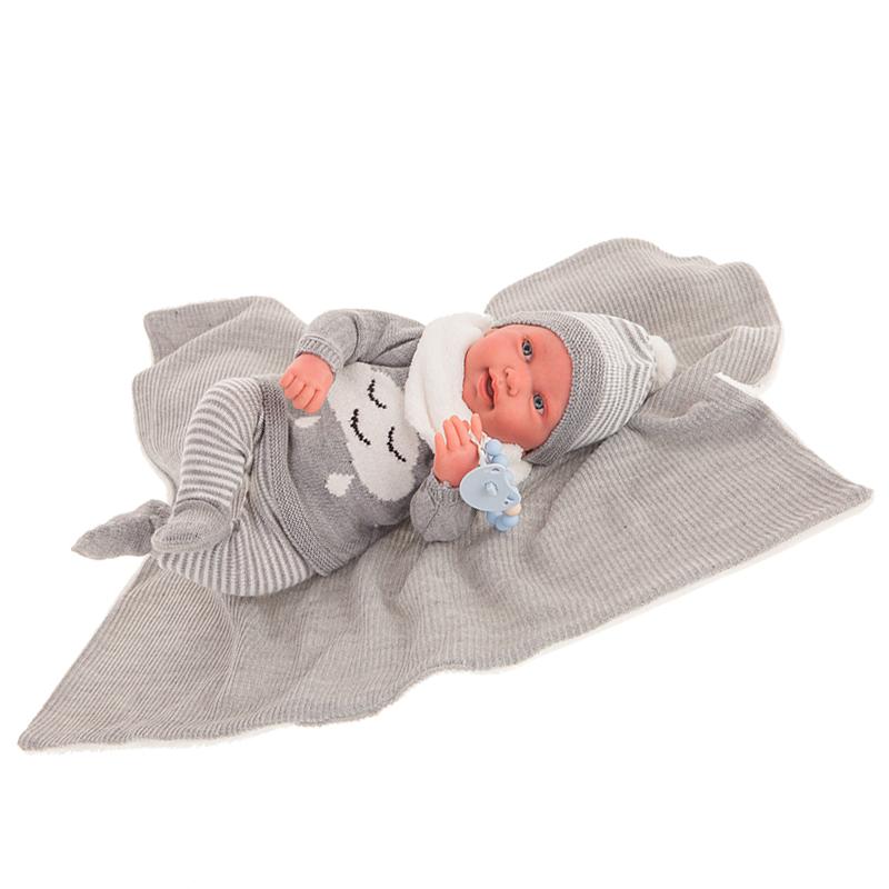 Sweet Reborn Pipo Toquilla Gris – Ref. 80114